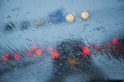 accident in rain
